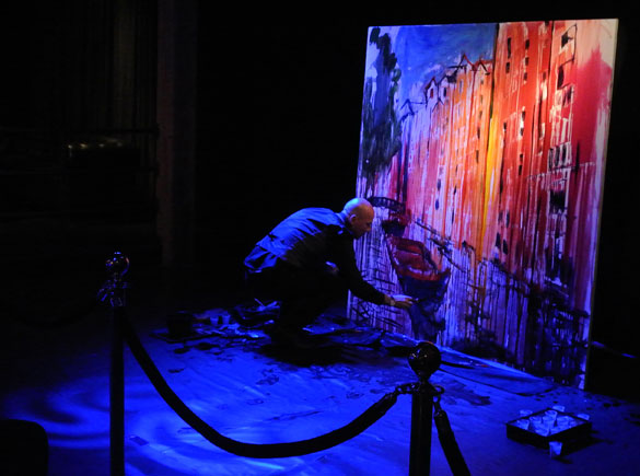 splash painting, event splash painting, splash painting performance, speed painter, amsterdam, amsterdam painter