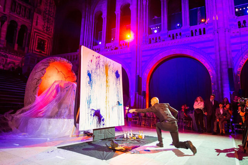 london speed painting, UK speed painting, splash painting event, event speed painting,