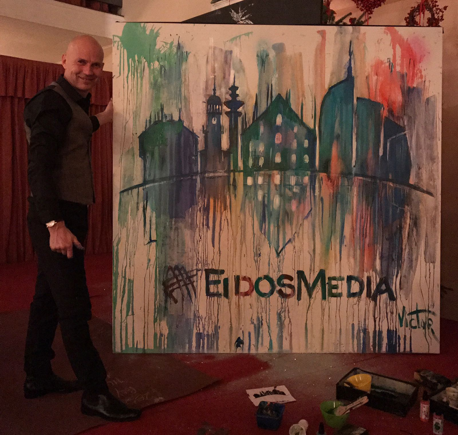 splash painting milan, milan sped painter, italy speed painter, italy painting, italy corporate event,