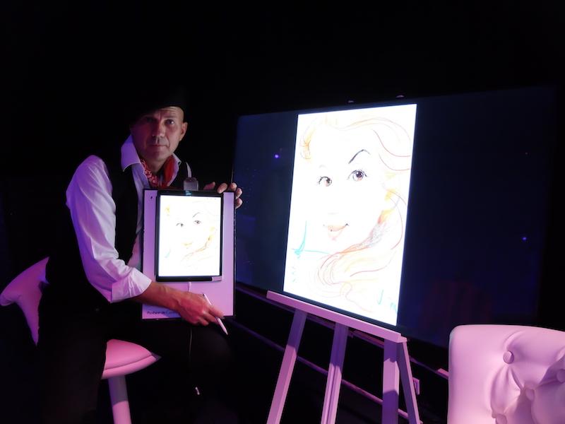 Digital caricaturist in Monte-Carlo