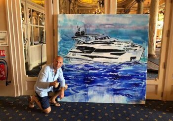 Yacht realized using the Splash Painting in Cannes