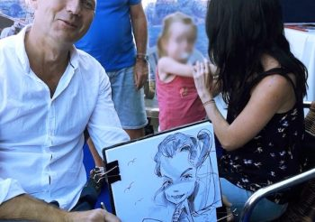 "Caricatures for the Association ""Sourire et Partage"" in Cannes"